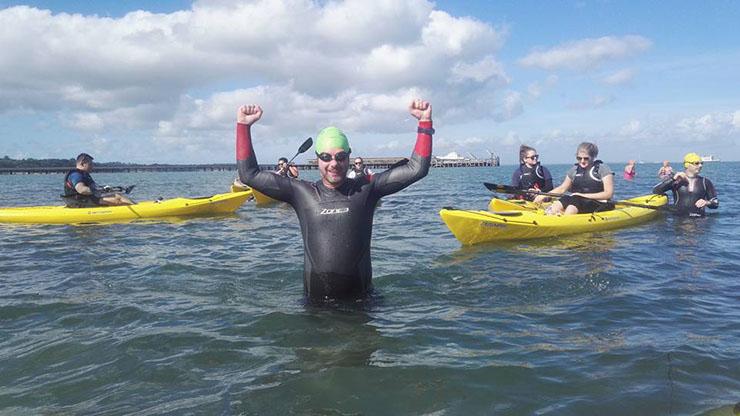 Alex Hilton-Baird Solent Swim