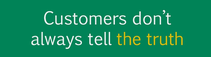 Debt recovery reality 2 - Customers don't always tell the truth