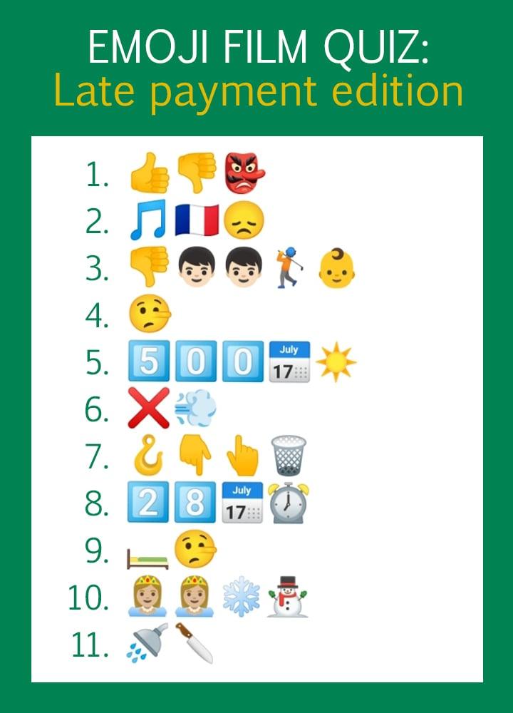 Emoji Film Quiz: Late Payment Edition